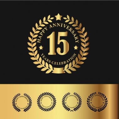 Golden Laurel Wreath 15 Anniversary