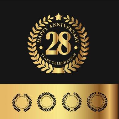 Golden Laurel Wreath 28 Anniversary