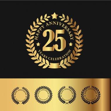 Golden Laurel Wreath 25 Anniversary
