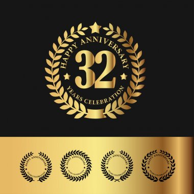 Golden Laurel Wreath 32 Anniversary