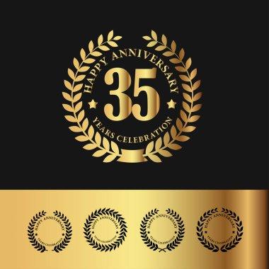 Golden Laurel Wreath 35 Anniversary