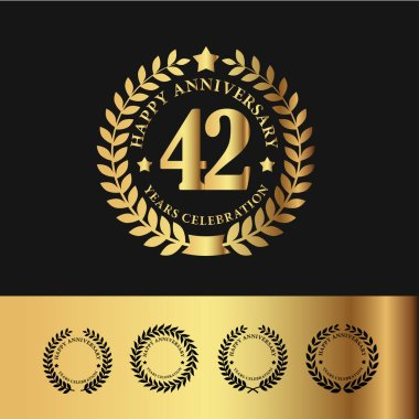 Golden Laurel Wreath 42 Anniversary