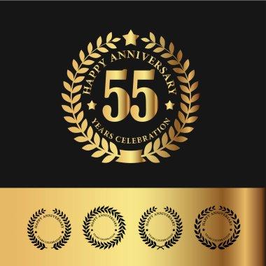 Golden Laurel Wreath 55 Anniversary