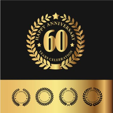 Golden Laurel Wreath 60 Anniversary