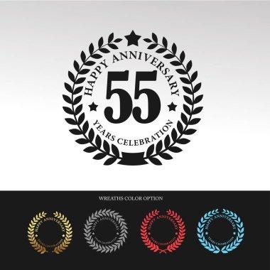 Black Laurel wreath 55 Anniversary