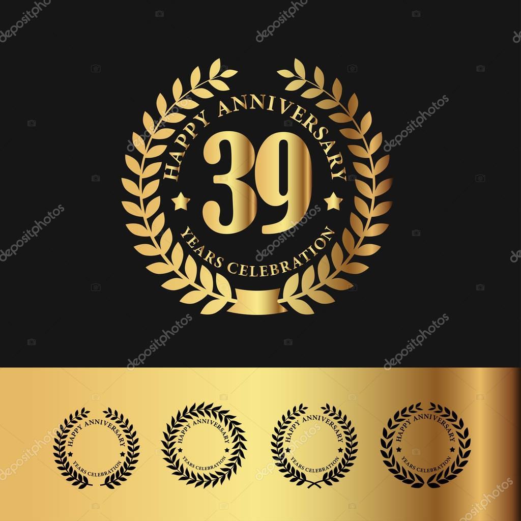 Golden Laurel Wreath 39 Anniversary