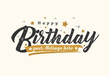 Vector vintage Happy Birthday Greeting Card stock vector