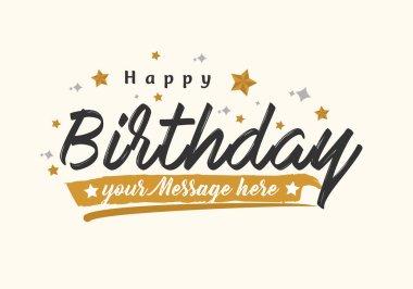 Vector vintage Happy Birthday Greeting Card clip art vector