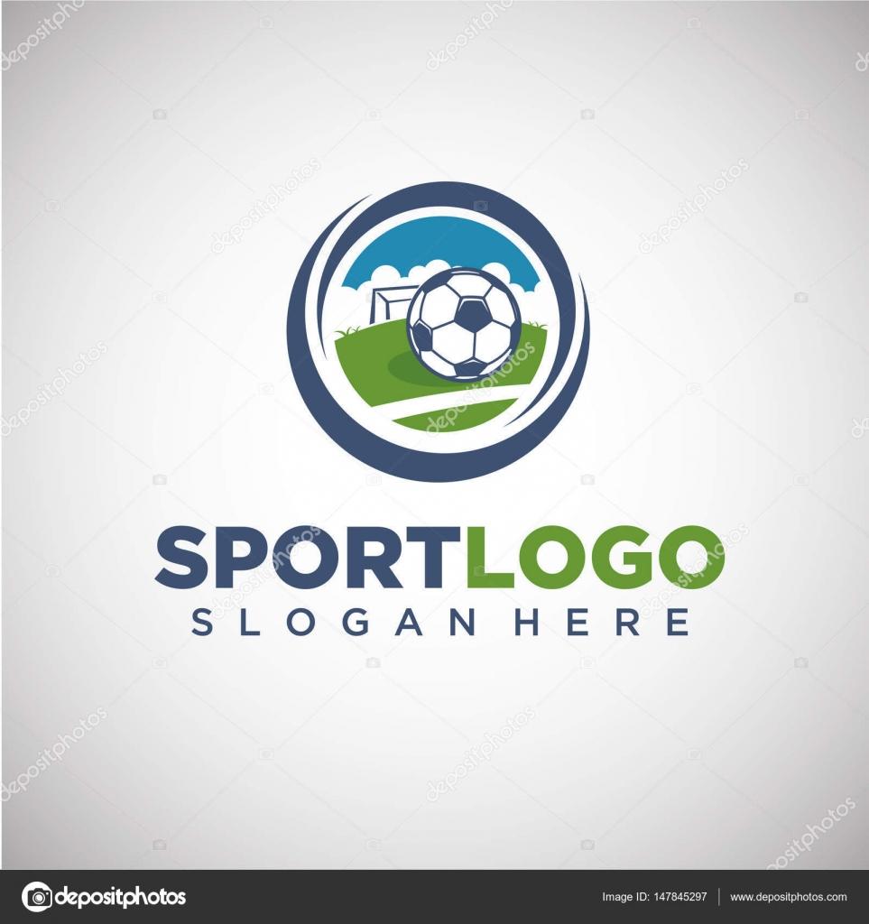 Sport-Fußball-Logo-Vorlage — Stockvektor © yugra #147845297