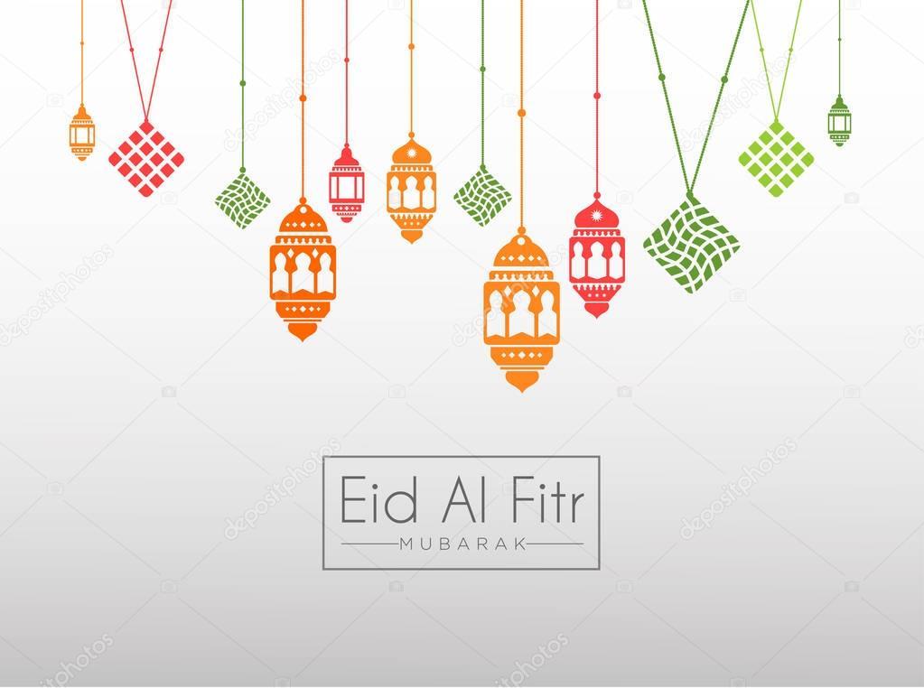 Ramadan Lanterns for Greeting Card