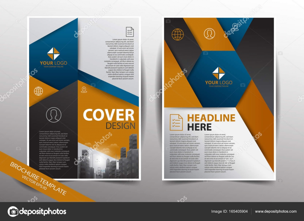 Pamphlet design template with city background — Stock Vector © yugra ...