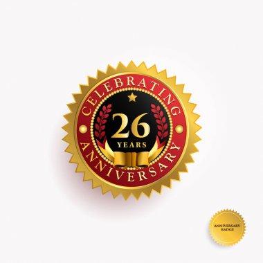 26  Years anniversary logo