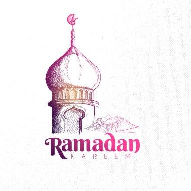 Hand drawn Ramadan card