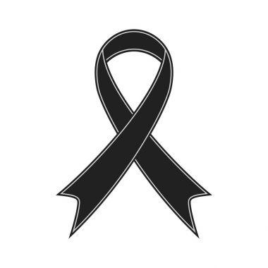 Black ribbon illustration vector