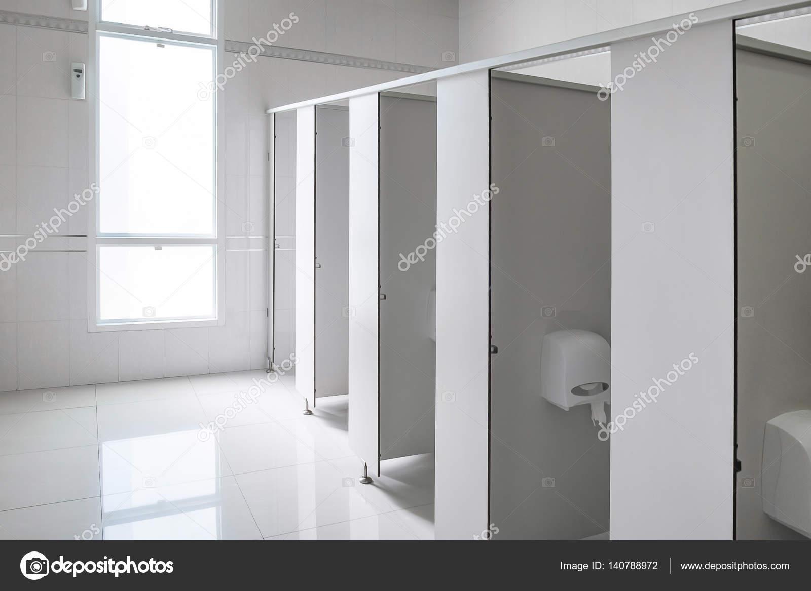 Clean men public toilet room empty, interior design — Stock Photo ...