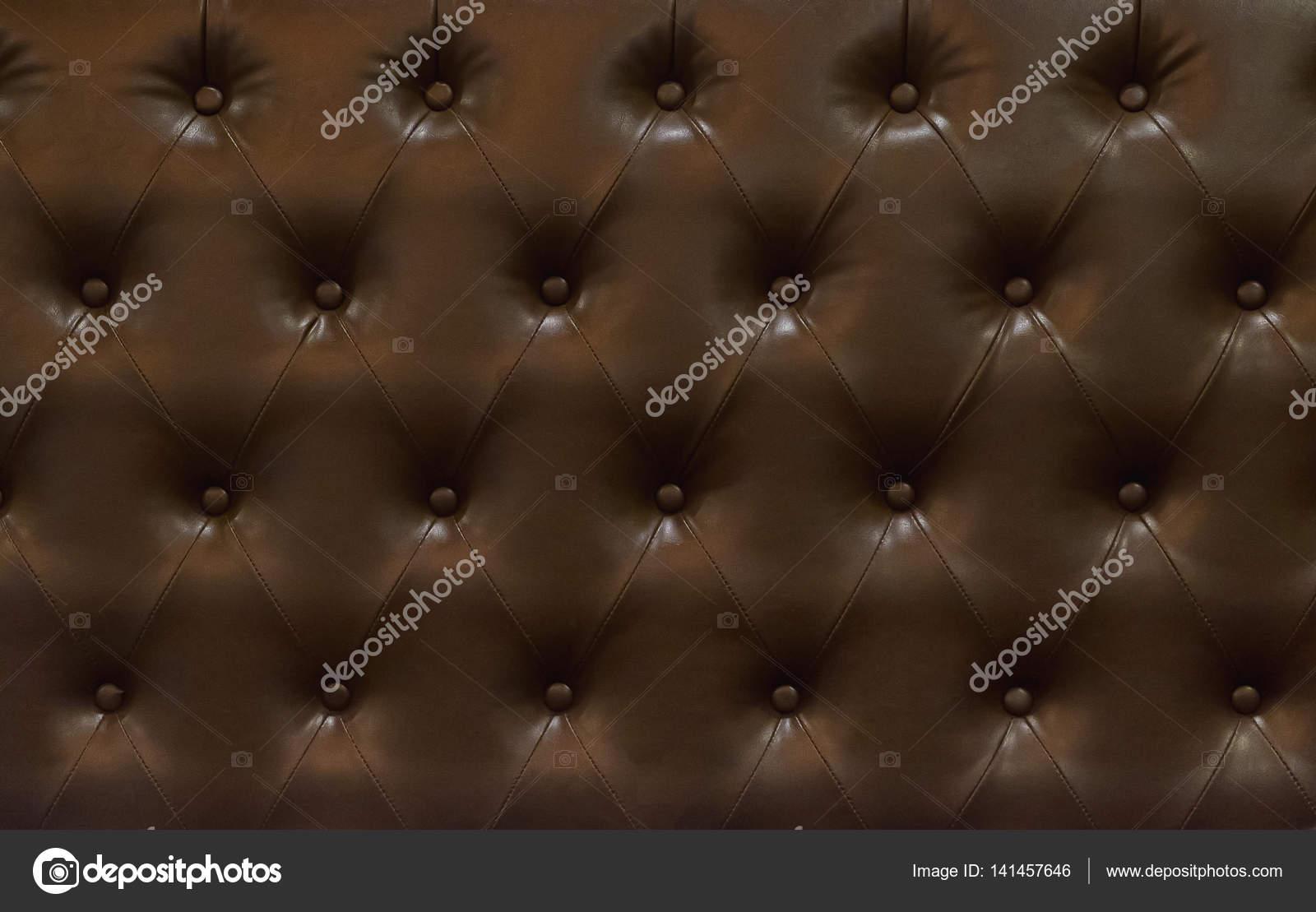 Donker Bruine Leren Stoel.Donker Bruin Lederen Stoel Patroon Retro Stijl Stockfoto