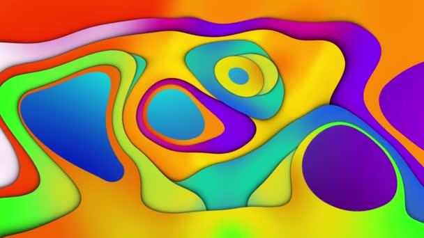 A folyadék színátmenete kaotikusan megváltoztatja alakját. 3D animáció az árnyék hangerő hatására. Hullámszerű deformáció. A minimalista animációs design modern koncepciója