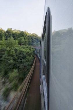 Train through a bridge