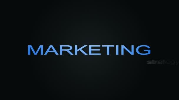 Marketing obchodní strategie slovo Cloud animaci textu