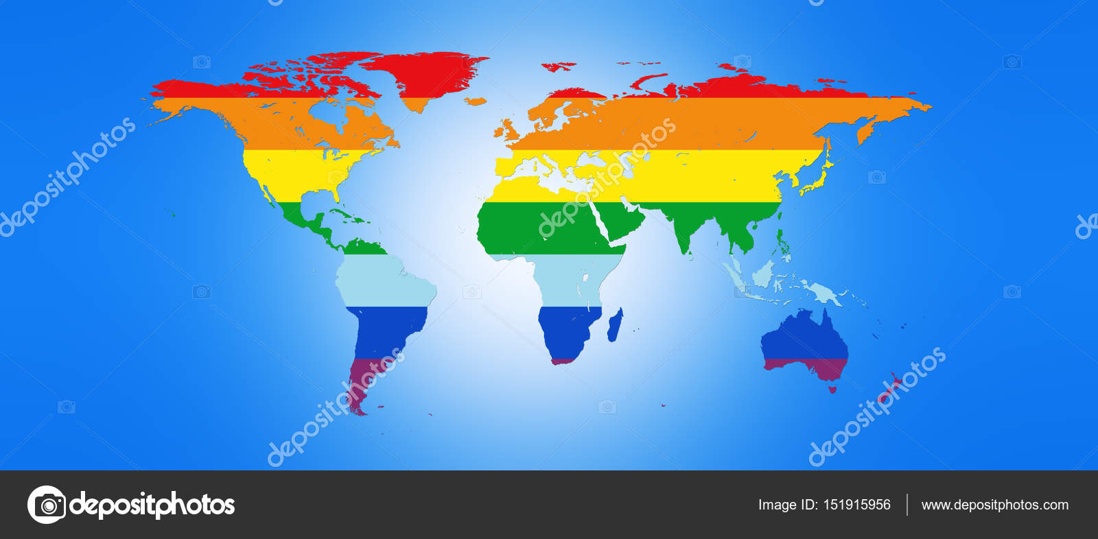 World map in peace colors 3d illustration stock photo world map in peace colors 3d illustration stock photo 151915956 publicscrutiny Image collections
