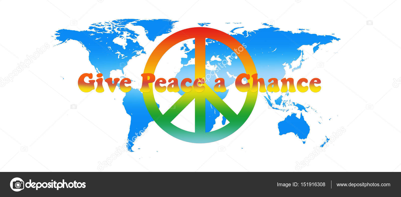 World map peace colors with text isolated on white background 3d world map peace colors with text isolated on white background 3d illustration stock photo gumiabroncs Gallery