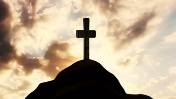 Kereszt, a domb tetején. Katolikus vallás fogalma