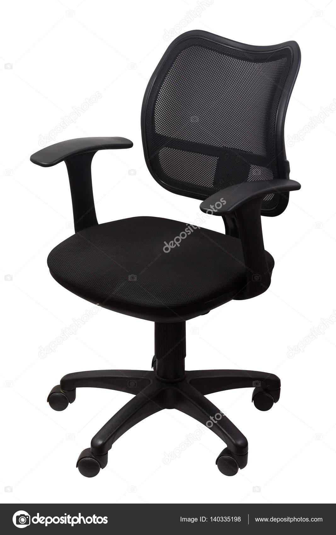 De Silla — Aislado Blanco Oficina Stock Negro En Vieja Fotos Nv0wm8nO