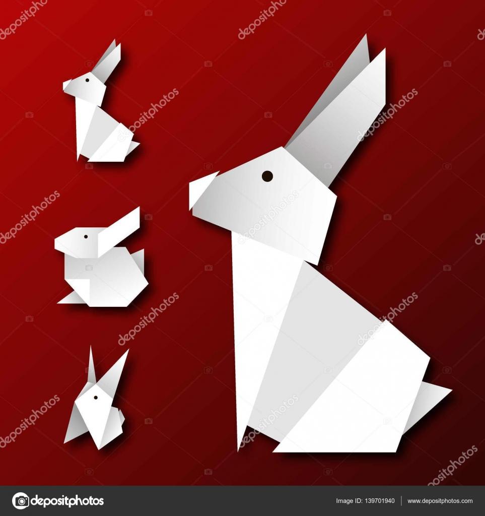 Conejo De Origami Vector Archivo Imagenes Vectoriales C Irkast
