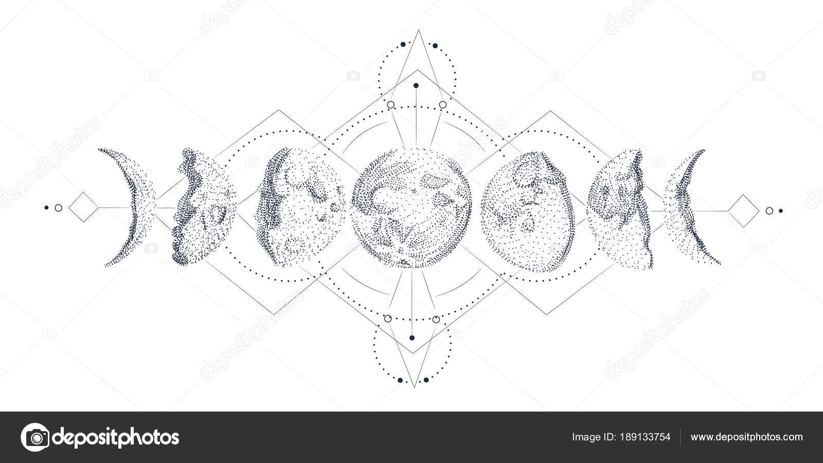 Vector Illustration Set Moon Phases Different Stages Moonlight Moonshine Diagram Related Keywords Suggestions Of Activity In Vintage Engraving Style By Irkast Find Similar Images