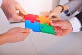 Fotografie Business Connection Corporate Team Jigsaw Puzzle Concep
