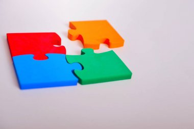 Business Connection Corporate Team Jigsaw Puzzle Concep stock vector
