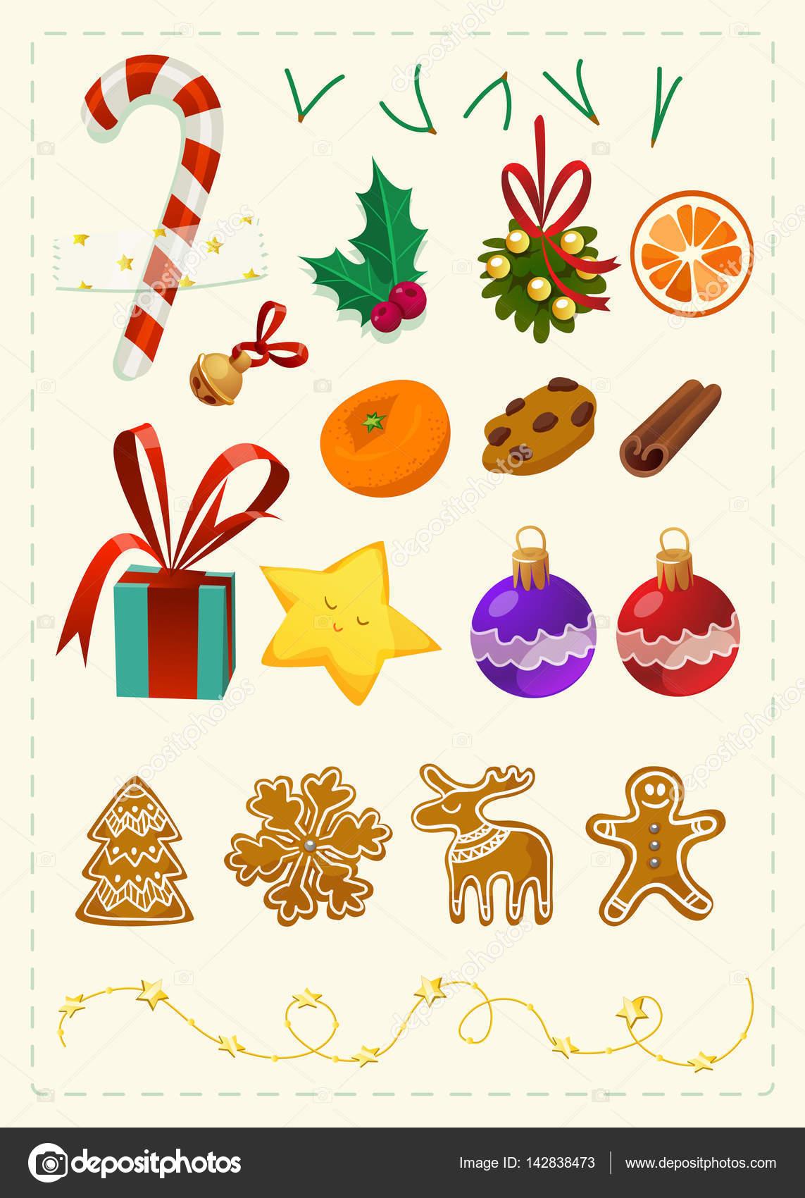 Prettige Kerstdagen En Gelukkig Nieuwjaar Stickers Stockvector