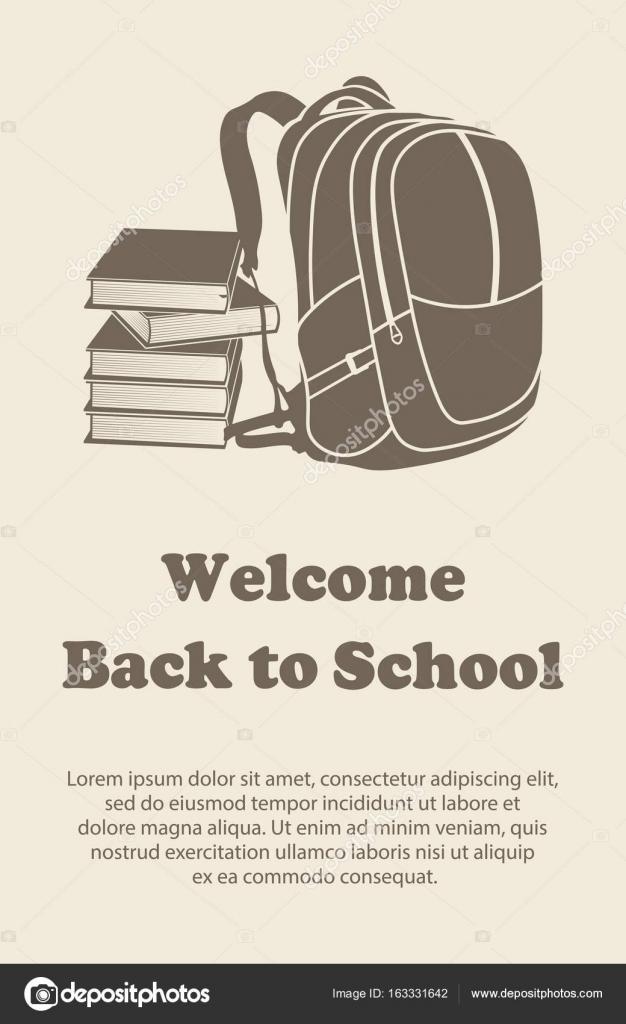Plantilla de diseño de vectores para el regreso a la escuela ...