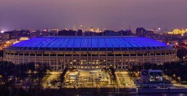 Moscow, Russia - January 4, 2018: Luzhniki sport complex, beautiful night view