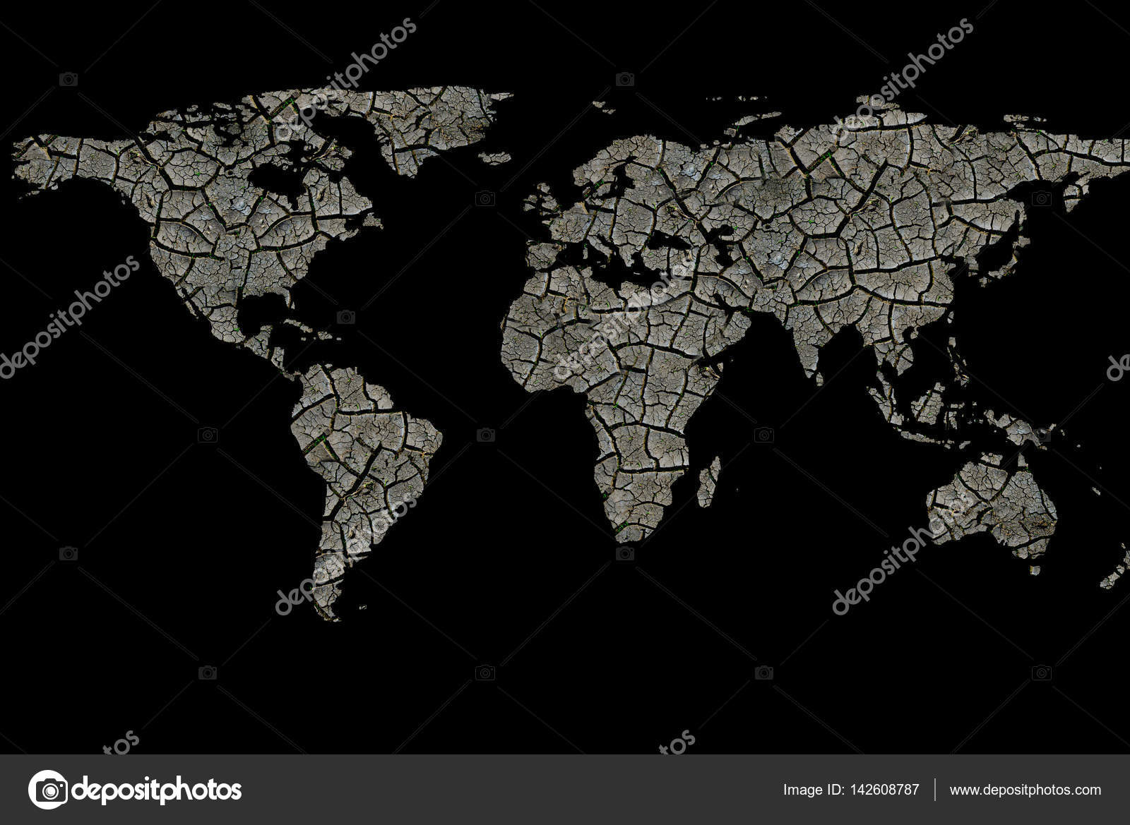 World map drought cracked earth desert ecology problems black world map drought cracked earth desert ecology problems black isolated stock photo gumiabroncs Images