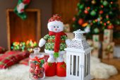 Vánoční dekorace a jedle