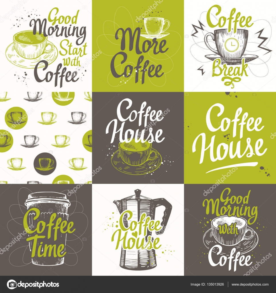 Vector Illustration Cup Maker And Pattern Brush Calligraphy Elements For Your Design Handwritten Ink Lettering By Monash