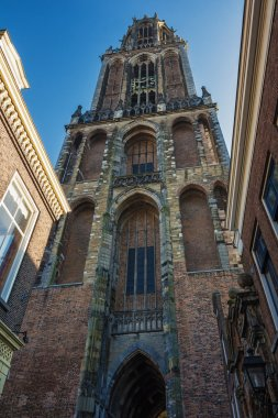 Dom Tower in the old town of Utrecht.