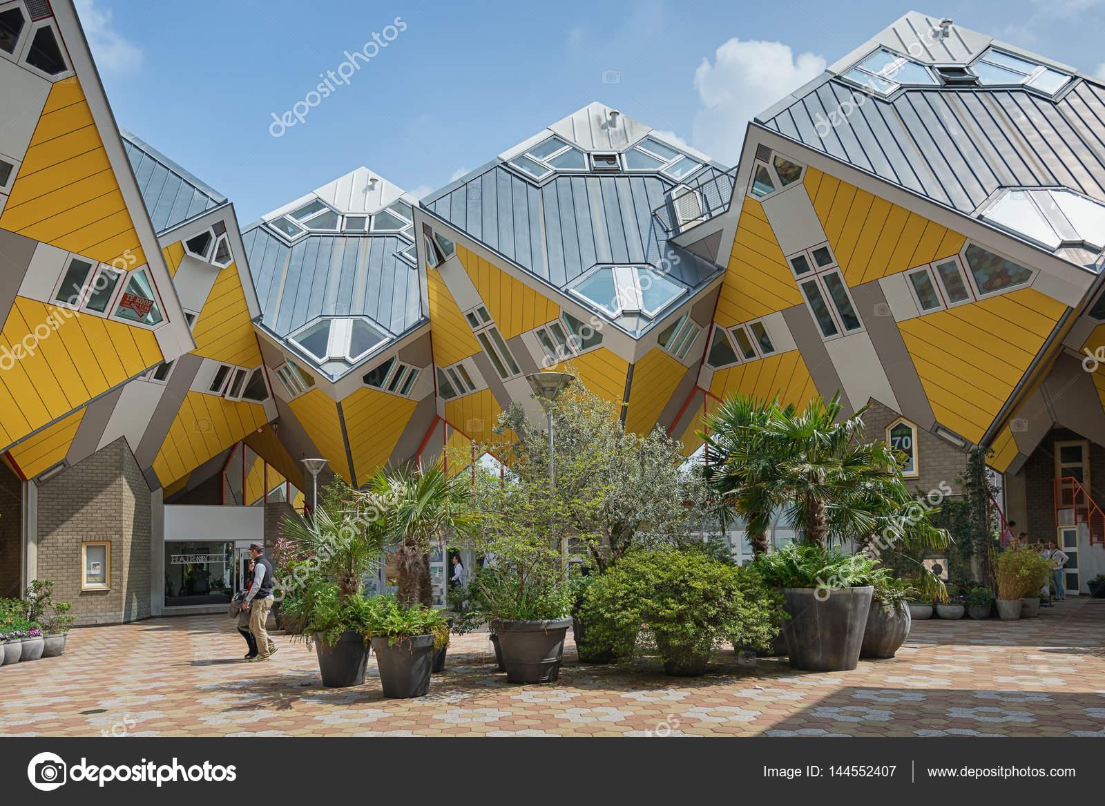 Cube Häuser Sind Eine Reihe Von Innovativen Häuser U2014 Stockfoto