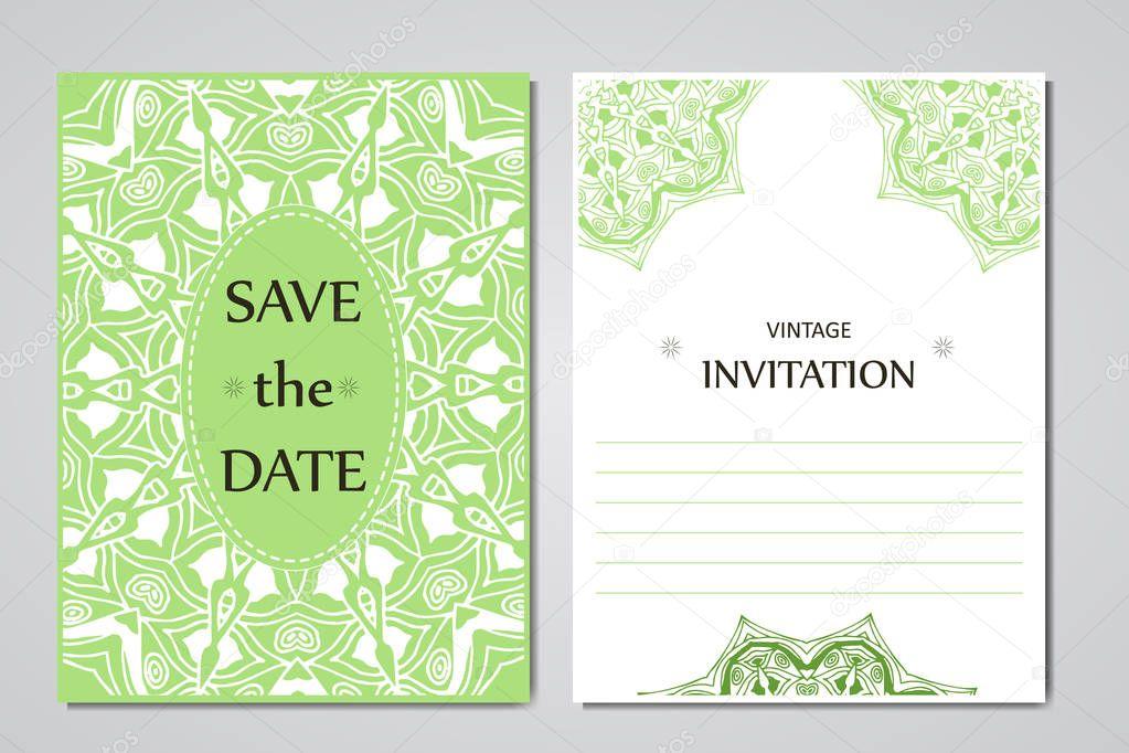 Vorlage Von Hochzeitskarten Runde Spitze Orientalischen Ornament