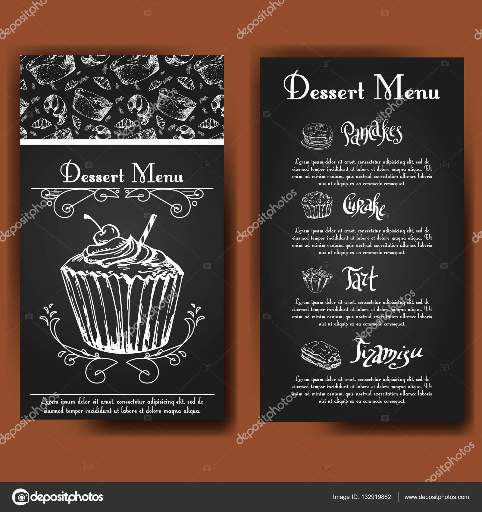Vektor-Illustration. Bäckerei-Entwurf. Schöne Karte mit dekorativen ...