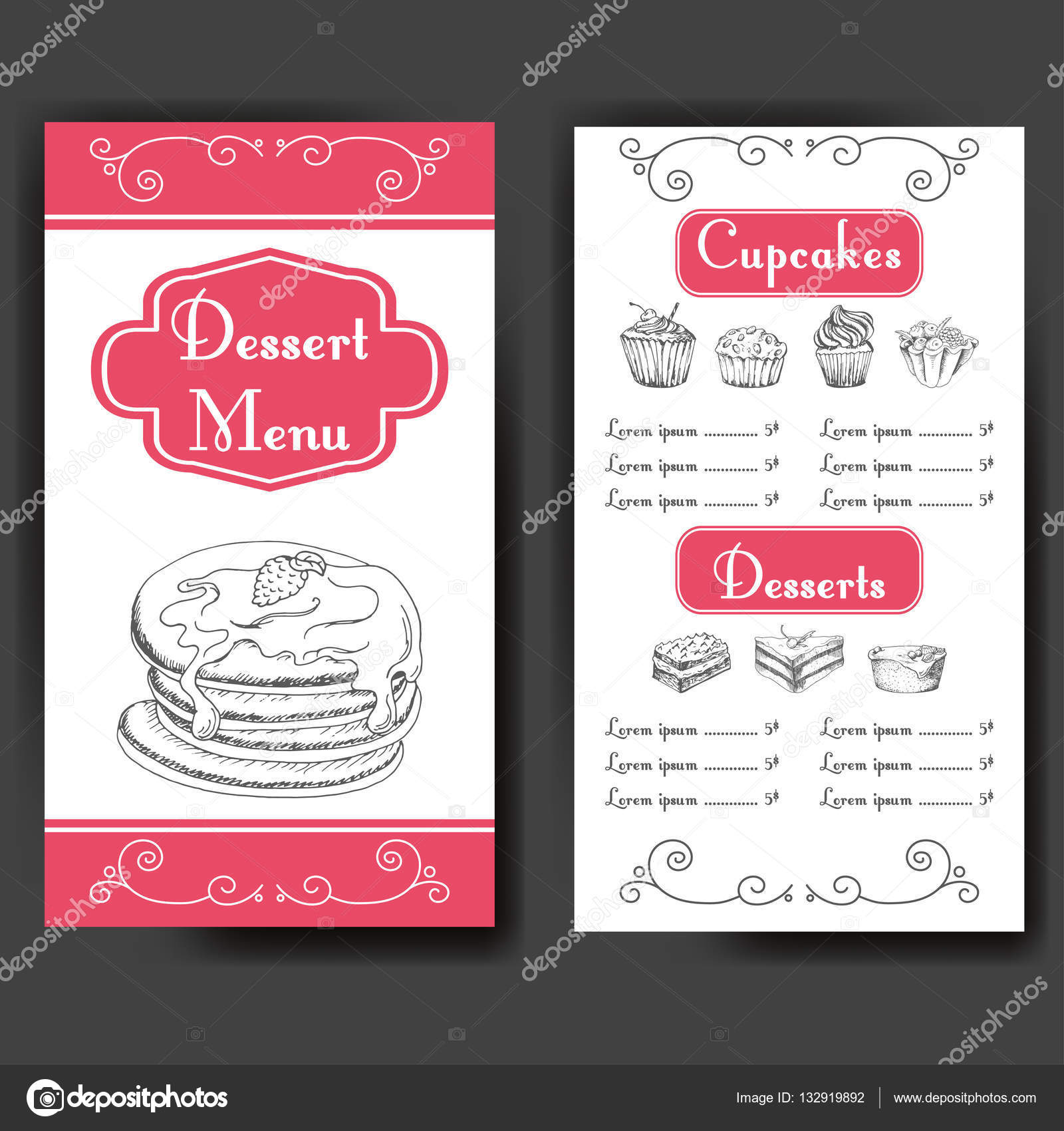 Vector illustration bakery design beautiful card with decorative bakery design beautiful card with decorative typography element cafe menu template altavistaventures Image collections