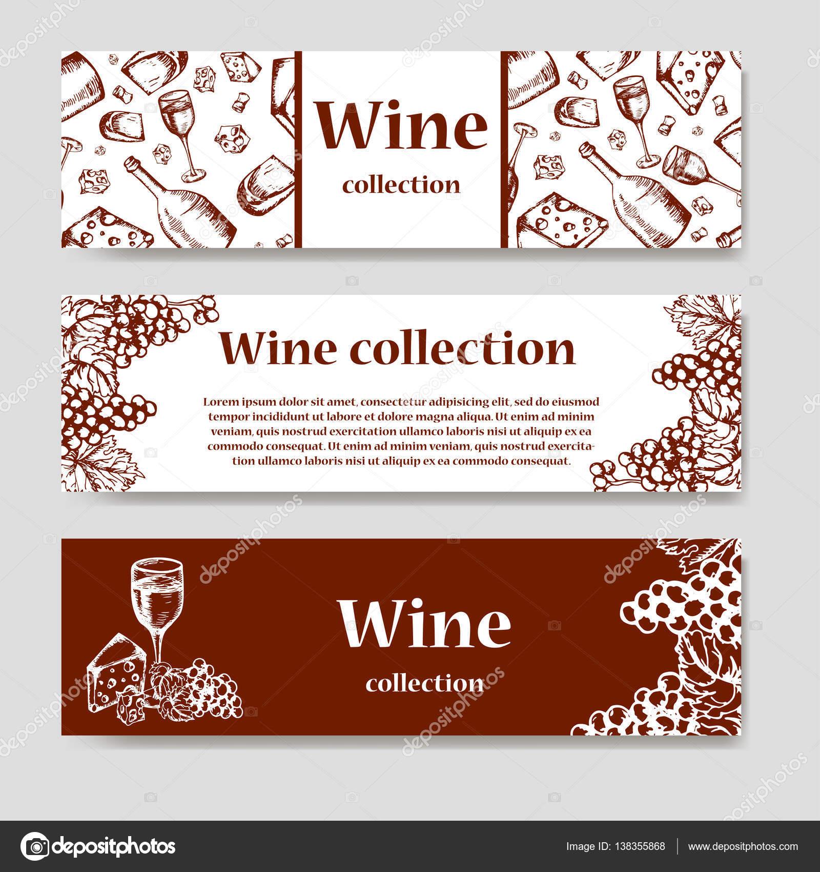 Diseño de carta de vinos. Plantilla de restaurante para invitación ...