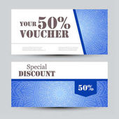 Fitness center gym coupon voucher or gift card design template gift voucher template with mandala design certificate for sport center magazine or etc yadclub Choice Image