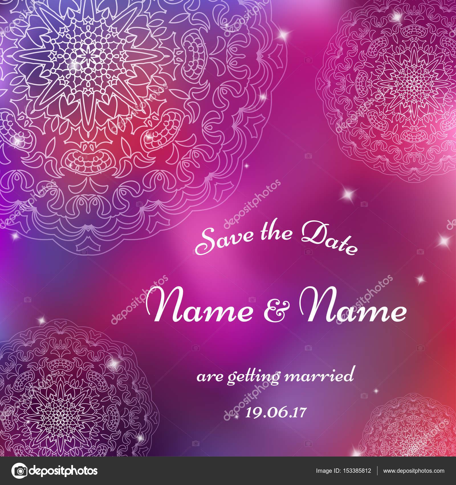 Karte Vektor Vorlage für Hochzeit. Einladungen für Dankeschön-Karte ...