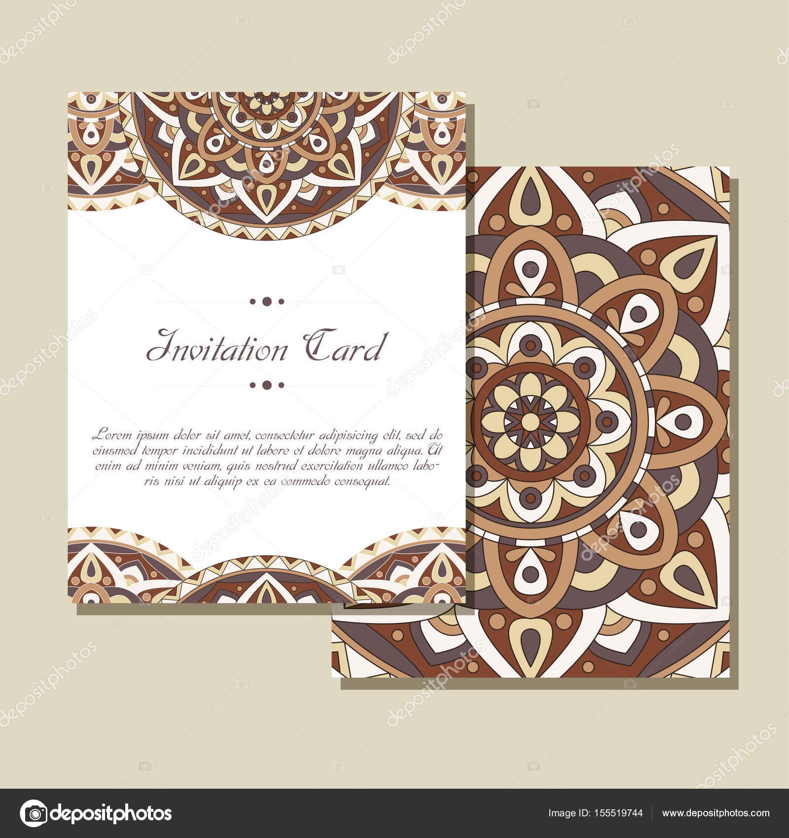 Set de invitaciones de boda. Plantilla de tarjetas de boda con ...