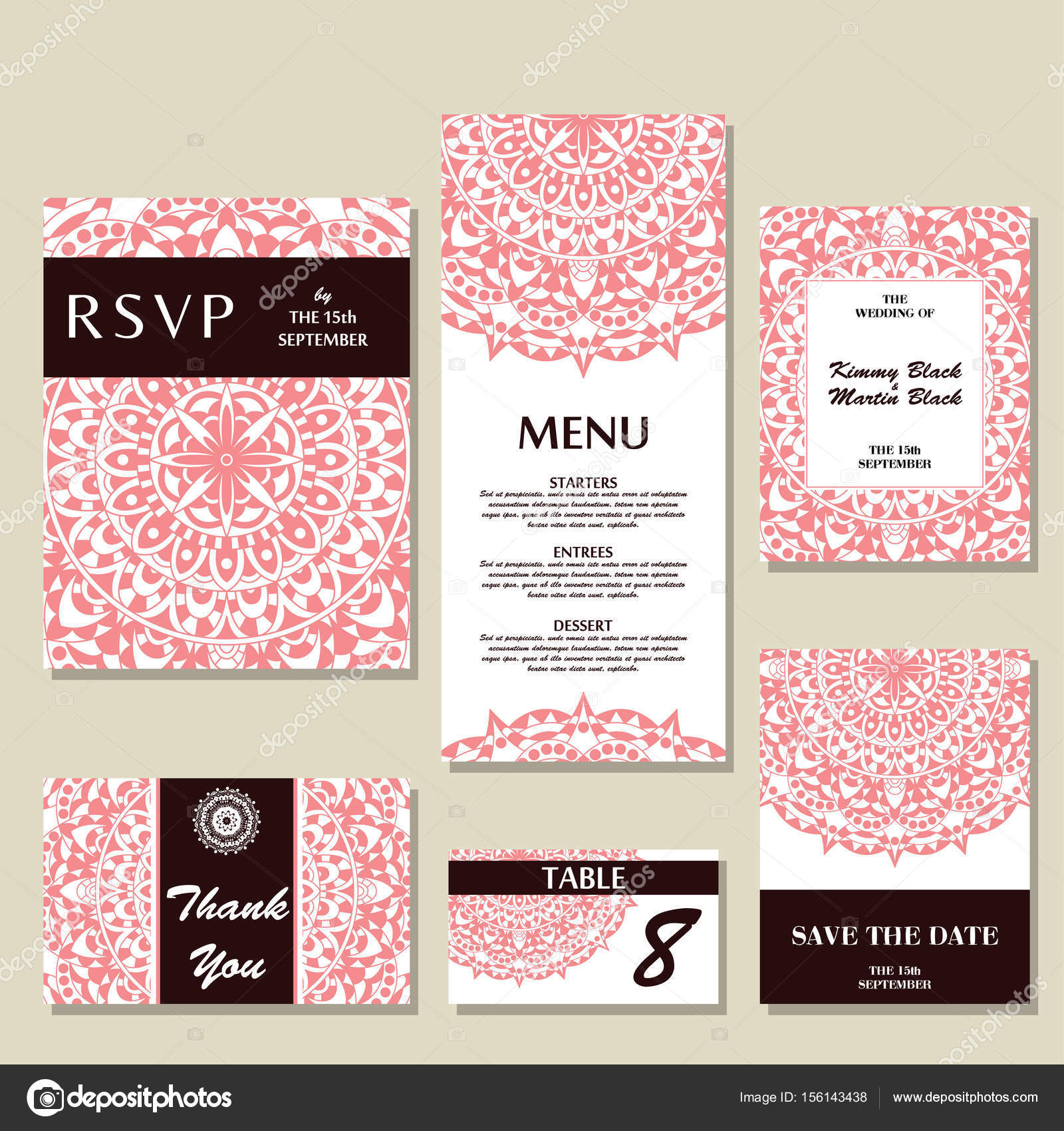 Hochzeit Einladung Vorlage mit individuellen Konzept. Design für ...