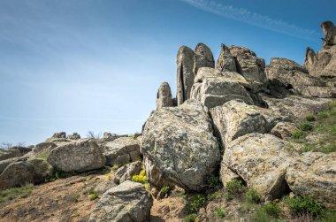 Rocks formations in Dobrogea, Tulcea county, Romania