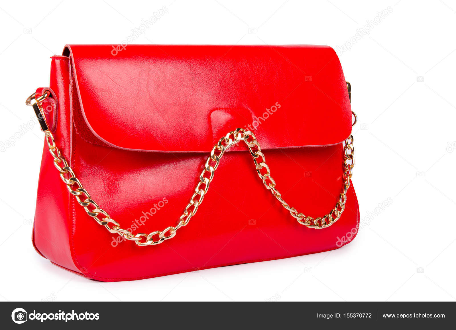 bb5717a4a121a Red woman bag isolated on white — Stock Photo © Nasimi  155370772