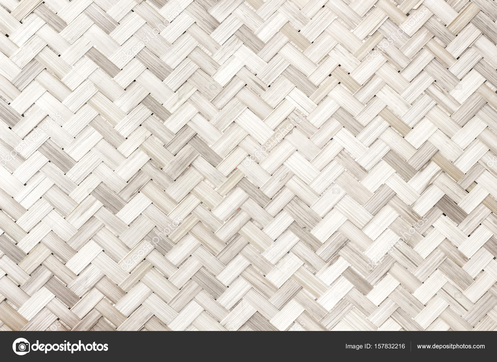 Woven Bamboo Patternwhite Wood Texture Background Stock
